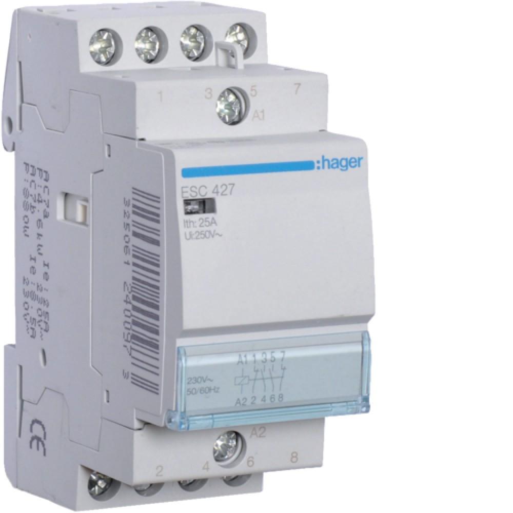 Контактор модульный Hager ESC427 25A