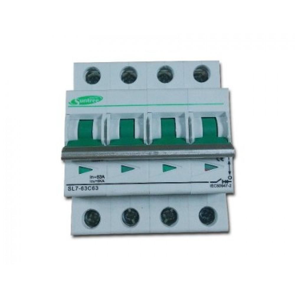 SL7-63C20 4P 20A 1000V Автоматический выключатель DC