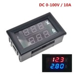 DC 0-100V 10A вольтметер-амперметр
