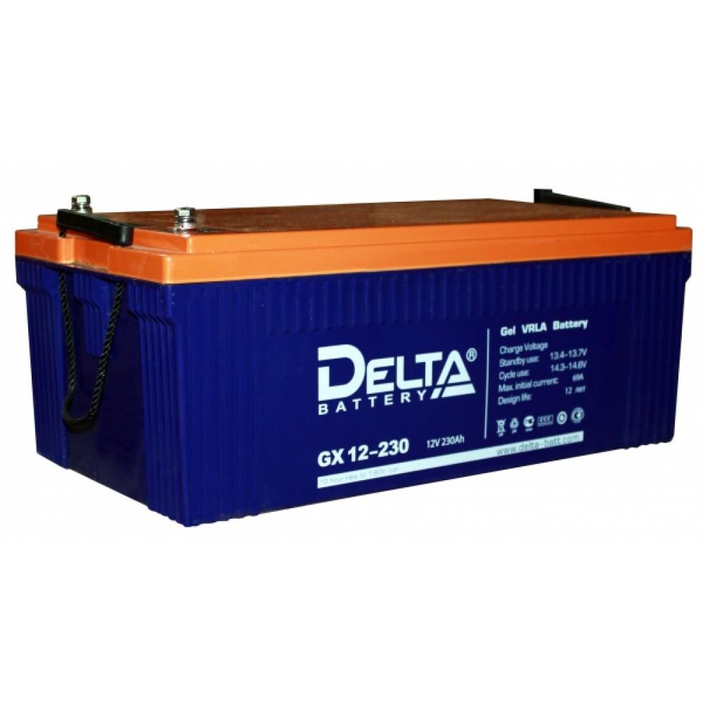 12В Аккумулятор Delta GX 12-230, 230А*ч