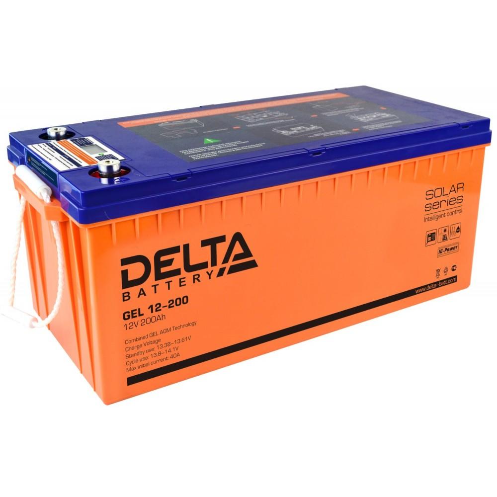 12В Аккумулятор Delta GEL 12-200, 200А*ч