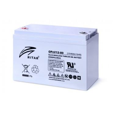 12В аккумулятор Prosolar OPzV12 80, 80 А*ч
