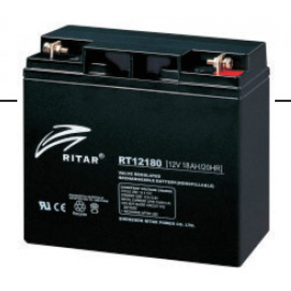 12В Аккумулятор Prosolar RT-12180D, 18А*ч