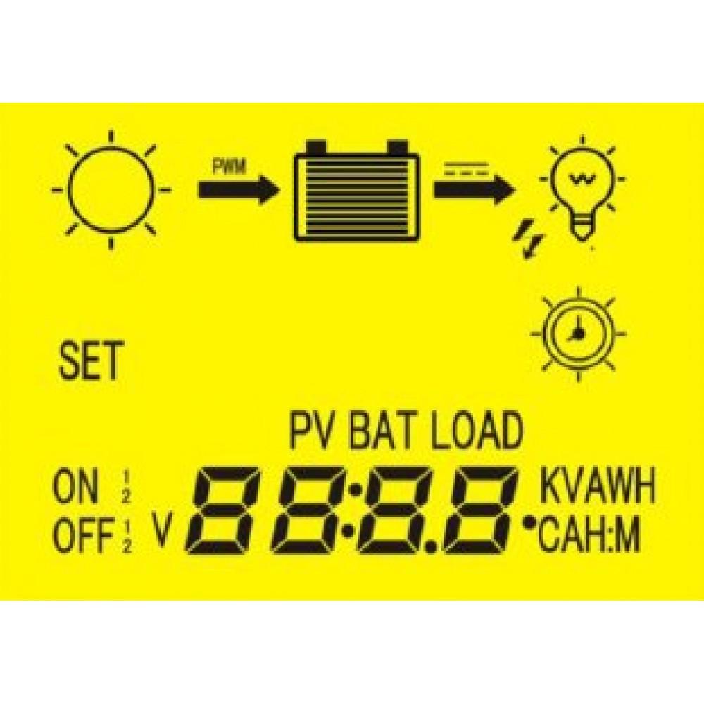 EPSolar EPIP20-LT 12/24В 15А Контроллер заряда с ЖК табло, таймером и часами