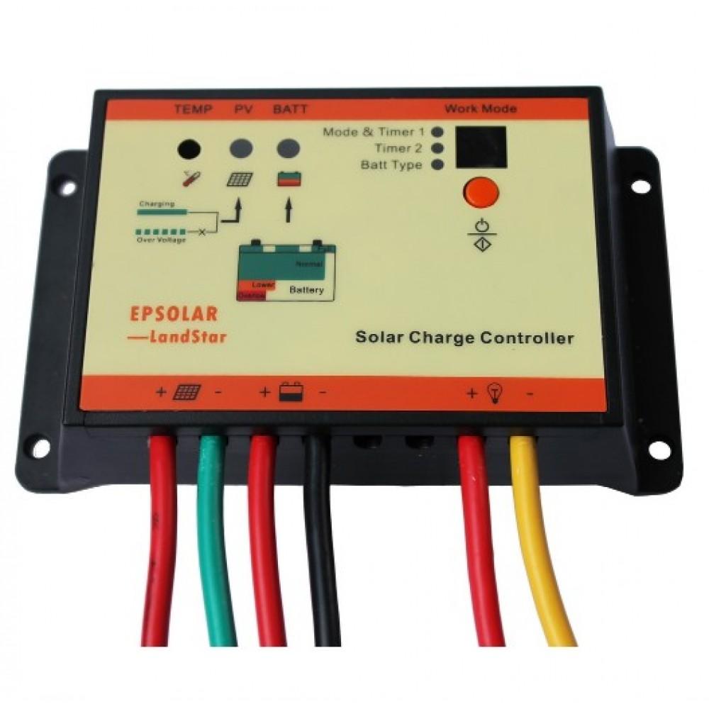 EPSolar LS2024RP 20А Контроллер заряда водостойкий c 2 таймерами