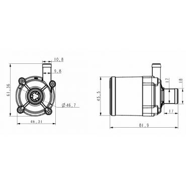 TL-B10/S-A12 насос циркуляционный DC 12В