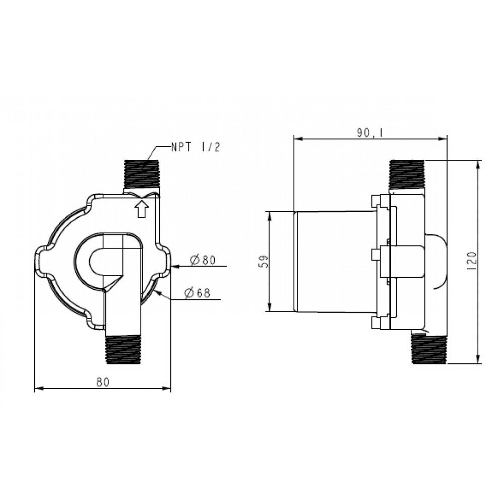 TD5/PV-A17-2504-M  насос солнечный циркуляционный DC 12В
