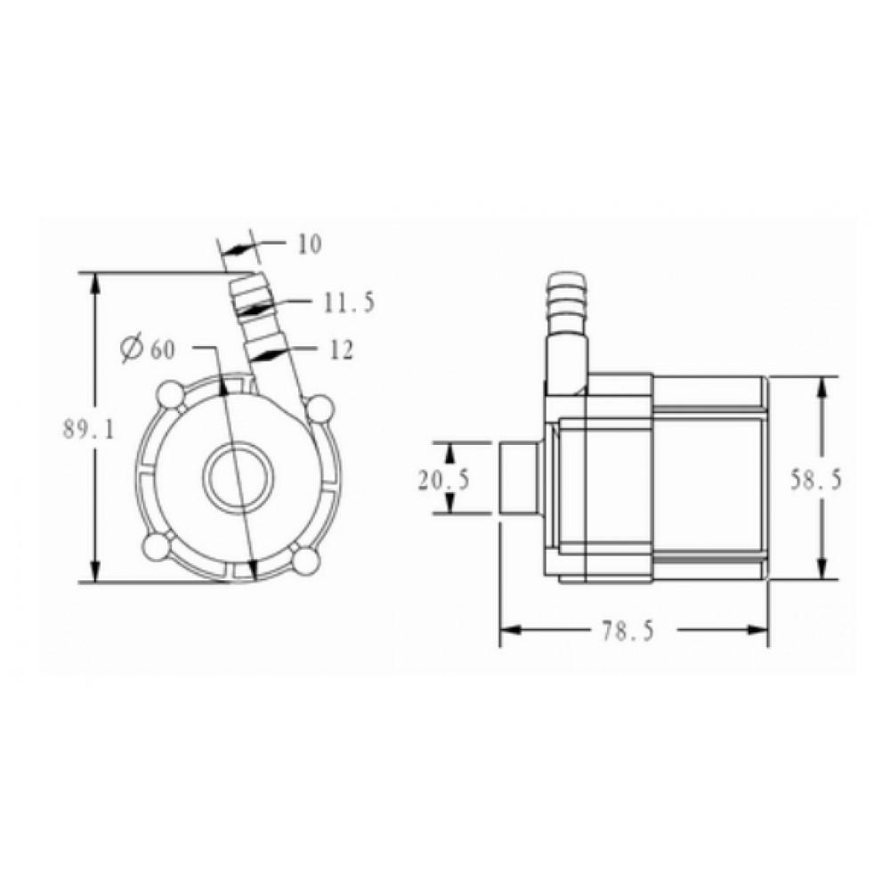 TL-C07/S/PV насос циркуляционный DC 12/24В