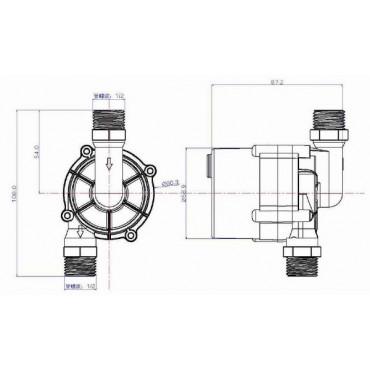 TL-C12H/PV насос циркуляционный DC 12/24В