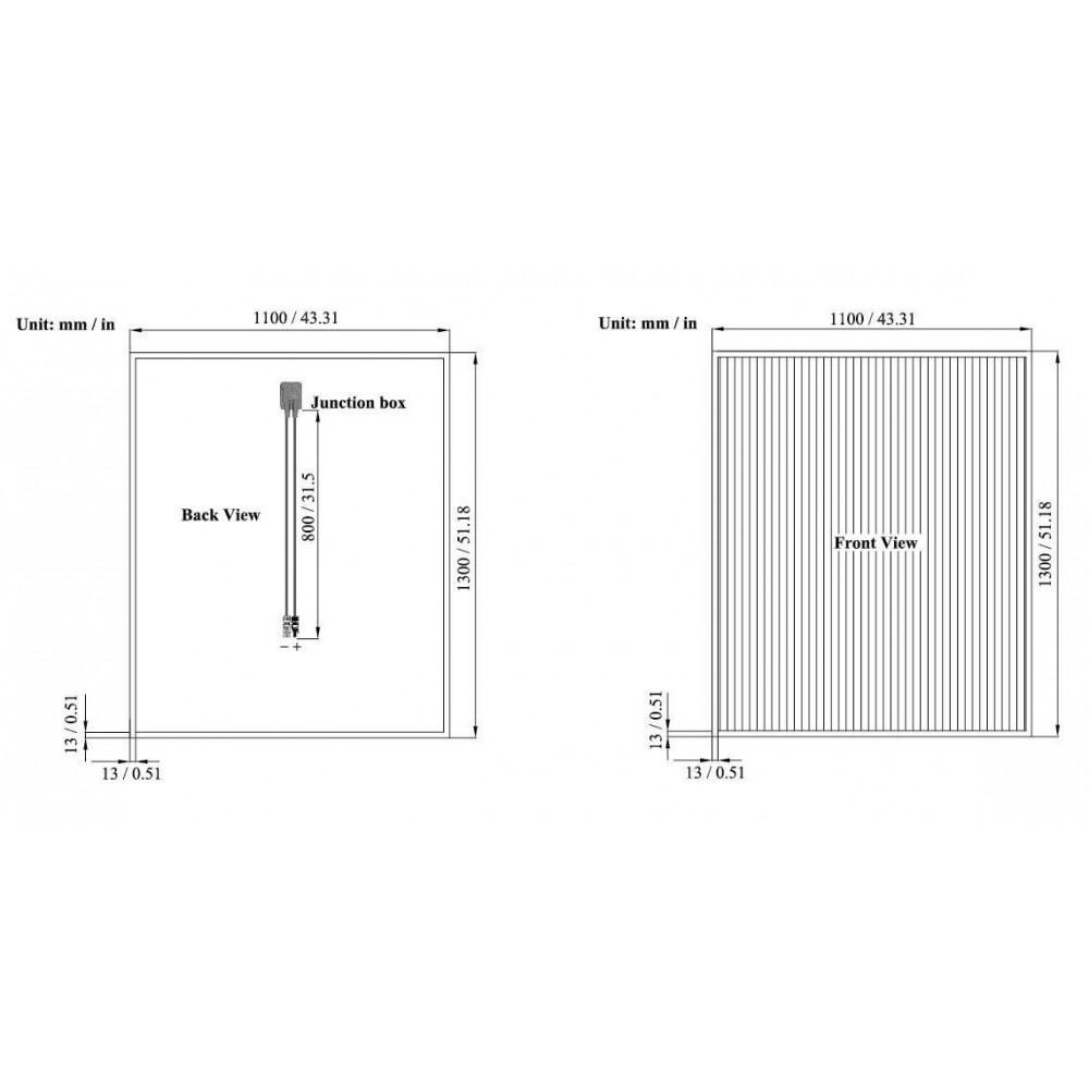 120 Вт TW-TF 120 микроморфный модуль, Tianwei, Солнечные панели