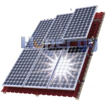 HOP Комплект для монтажа 8 солнечных модулей на наклонной крыше