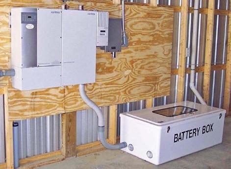 Фотоэлектрическая батарейная система бесперебойного электроснабжения