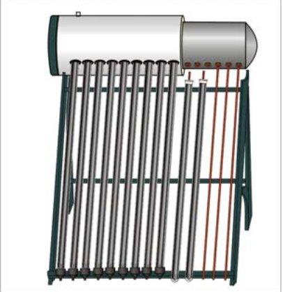 Интегрированный солнечный водонагреватель с напорным баком