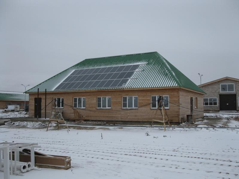Солнечная батарея 5 кВт на крыше дома