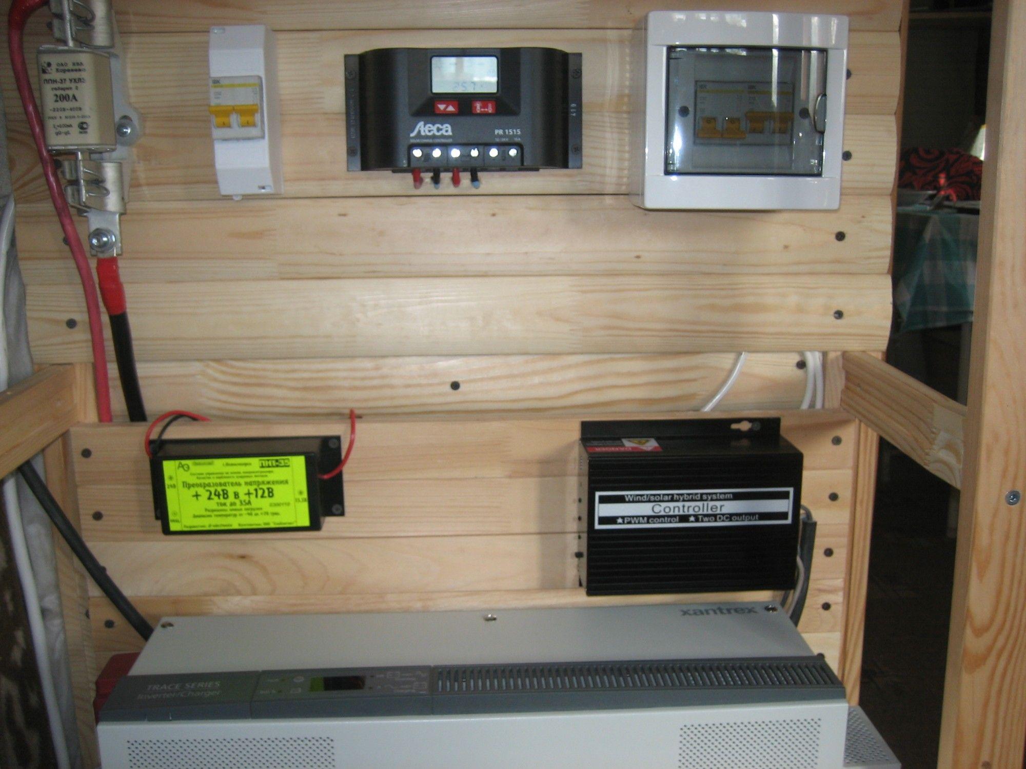 Ветро-солнечная система автономного электроснабжения на базе ВГ SWG 0.5 кВт на мачте 6 м