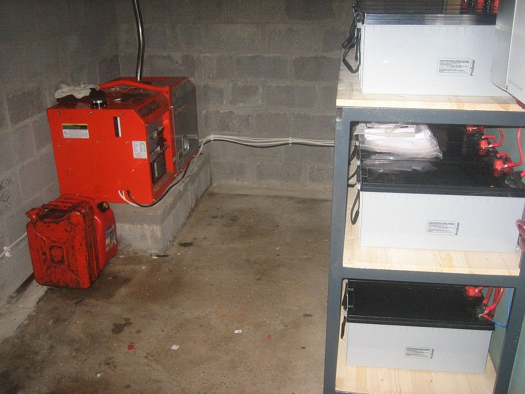 Аккумуляторы и дизель-генератор