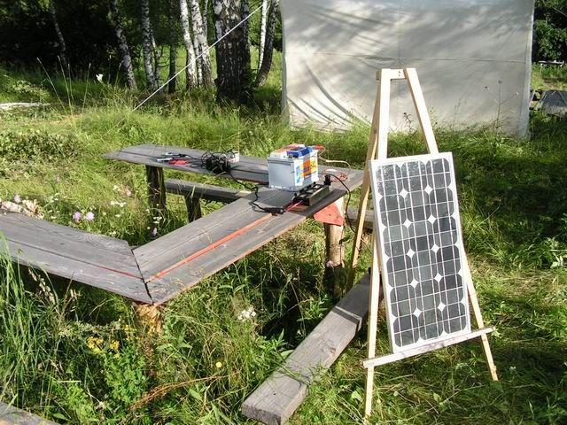 Солнечная батарея с аккумулятором