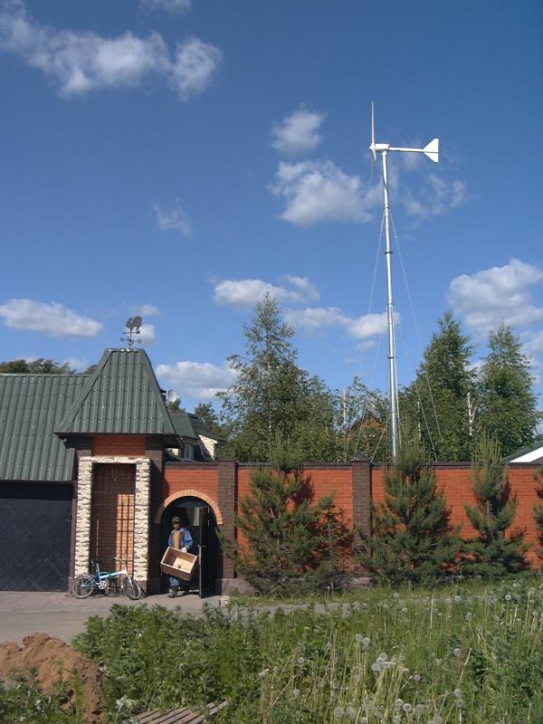 Ветроэлектрическая установка SWG 1 кВт на мачте 12 м