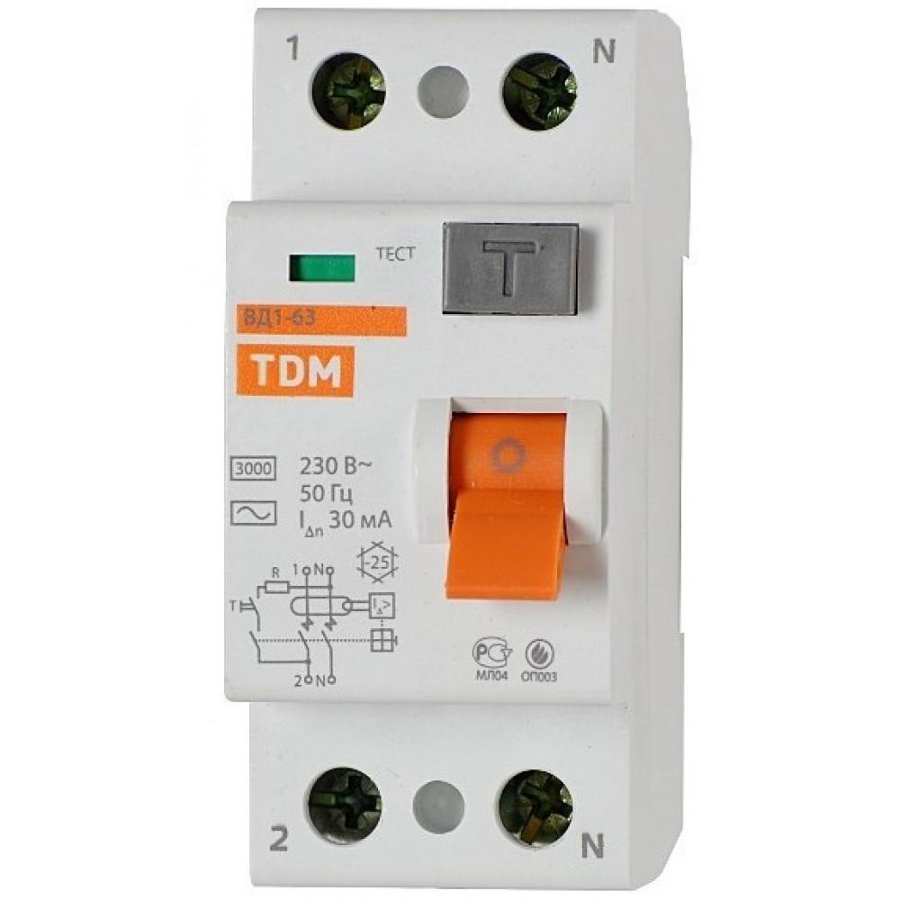 Устройство защитного отключения ВД1-63 2P 32A 30мА