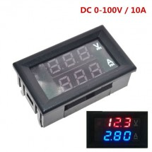 DC 0-100V, 10A вольтметр-амперметр