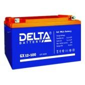 12В Delta GX 12-100, 100А*ч Аккумулятор AGM-гель