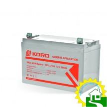 12В Аккумулятор  GP12-100, КОРД, 100 А*ч