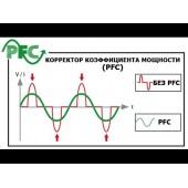 Входной коэффициент мощности = 1