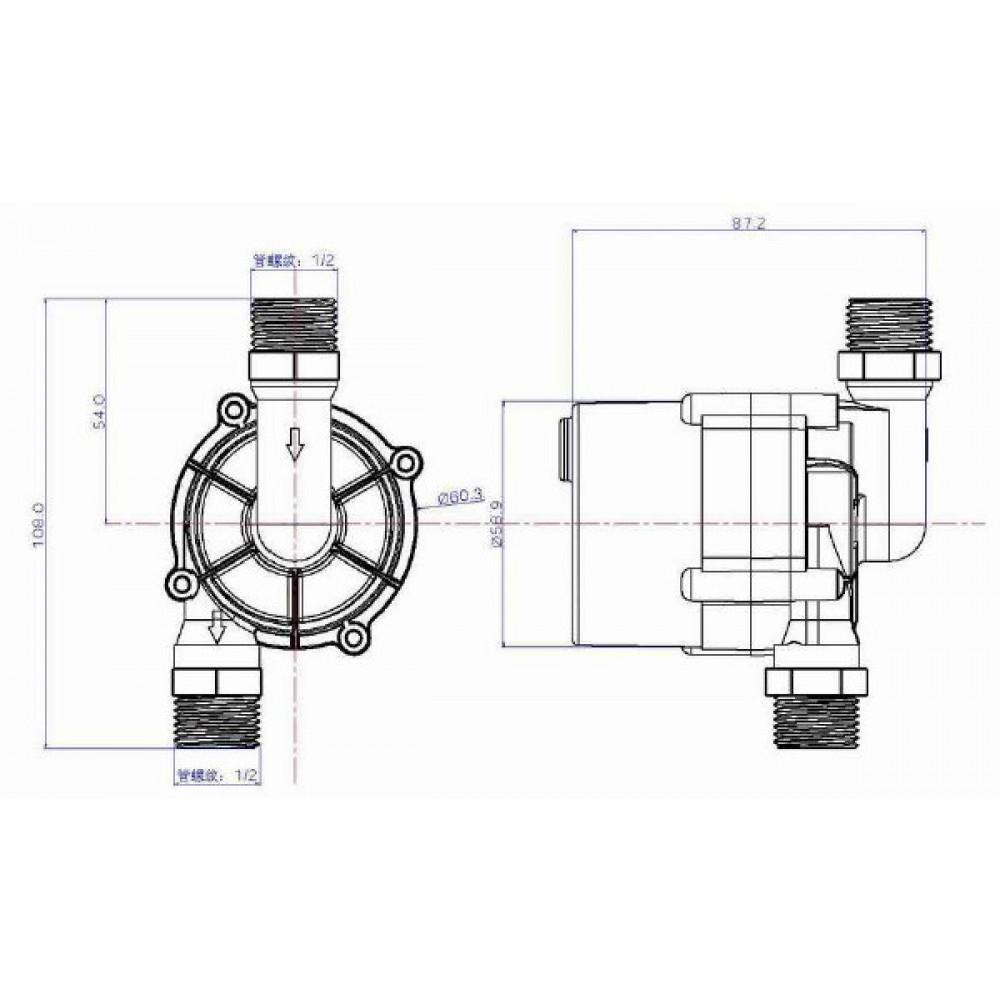 TL-C12H насос циркуляционный DC 12В