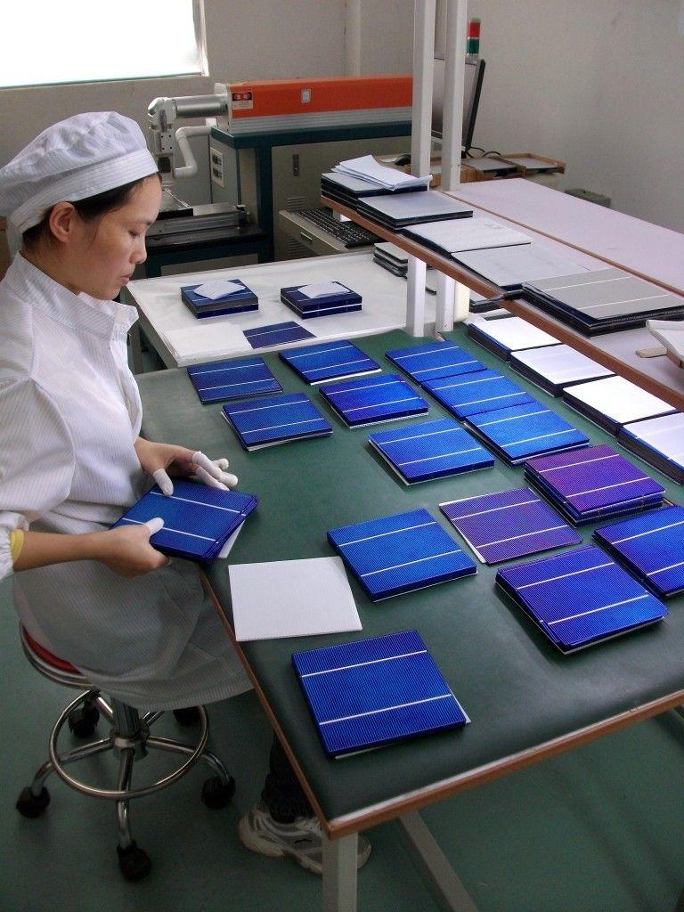 Отбор солнечных элементов производителем