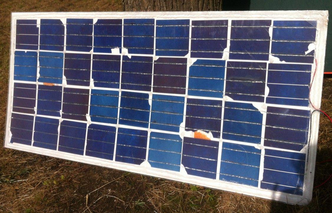 Солнечный модуль из отходов Grade D