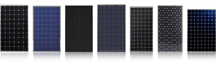 Различные солнечные модули